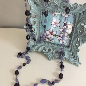 Charming Charlie Beaded necklace purple